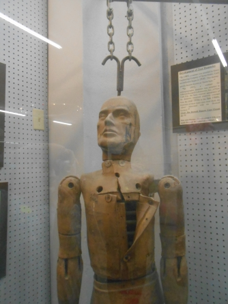 Crash-test dummy at Roswell, NM UFO Museum.