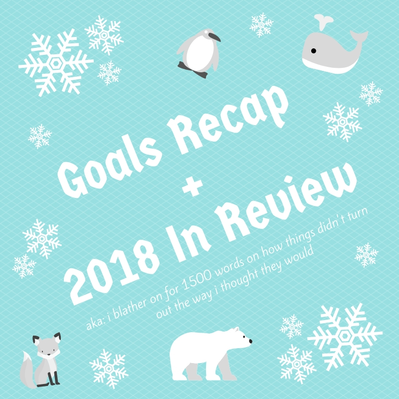 Goals Recap + 2018 In Review
